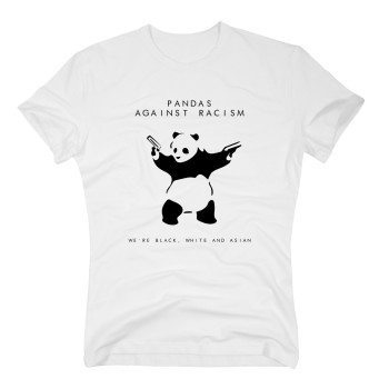 Pandas against Racism - We are black, white and asian. - weiß