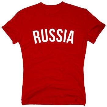 Russia - Herren T-Shirt - rot