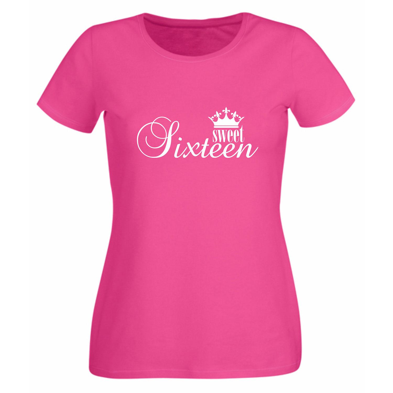 zum 16. geburtstag - damen t-shirt sweet sixteen | shirt department