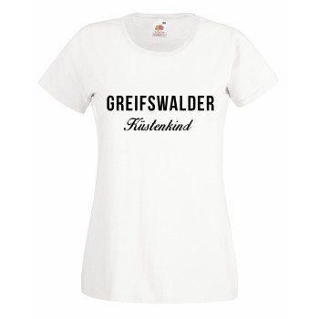Greifswalder Küstenkind - Damen T-Shirt - weiß