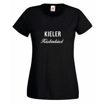 Kieler Küstenkind - Damen T-Shirt - schwarz