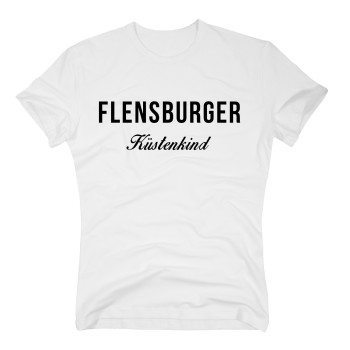 Flensburger Küstenkind - Herren T-Shirt - weiß