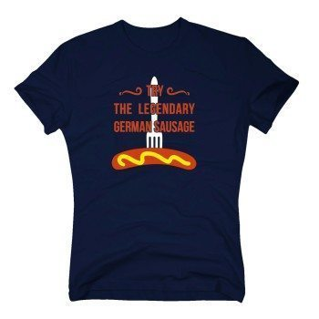 Try the legendary german sausage - Herren T-Shirt mit Wurst - dunkelblau