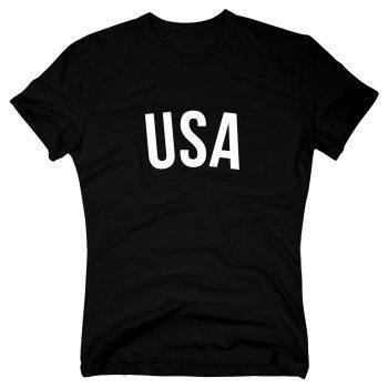 USA - Herren T-Shirt - schwarz