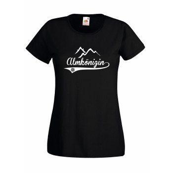 Almkönigin - Damen T-Shirt - schwarz-weiß