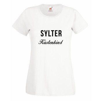 Sylter Küstenkind - Damen T-Shirt - weiß-schwarz