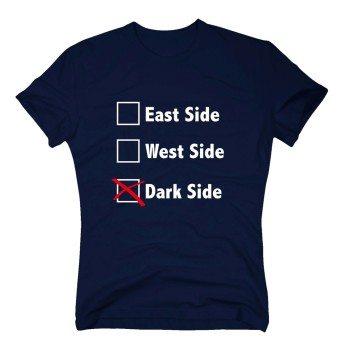 East Side, West Side, Dark Side - Herren T-Shirt - dunkelblau