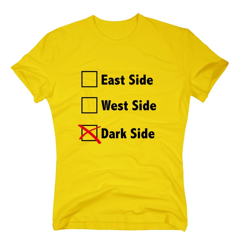 Herren T Shirt East Side West Side Dark Side