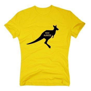 100% Aussie - Herren T-Shirt mit Känguru - gelb