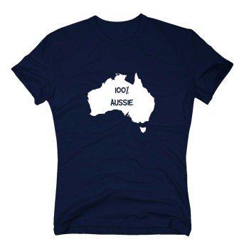 100% Aussie - Herren T-Shirt - dunkelblau