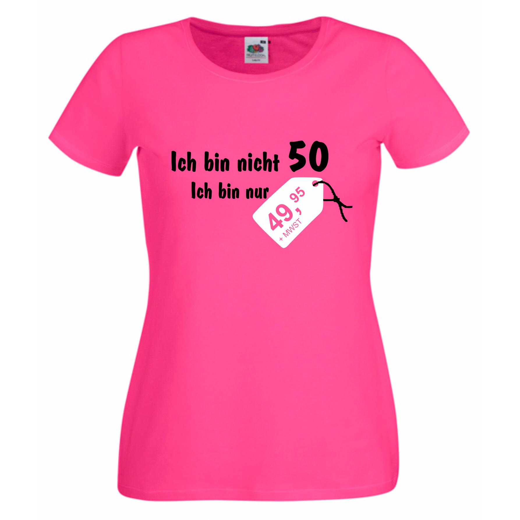 damen t shirt geburtstag ich bin nicht 50 shirt department. Black Bedroom Furniture Sets. Home Design Ideas