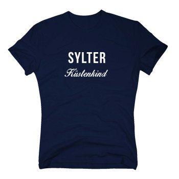 Sylter Küstenkind - Herren T-Shirt - dunkelblau-weiß