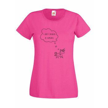 I dont believe in humans - Damen T-Shirt Unicorn