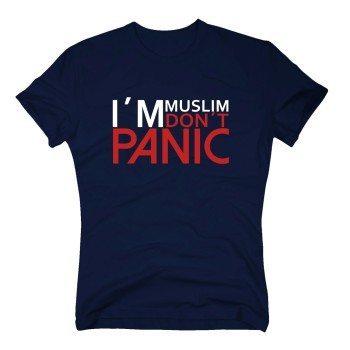 I'm muslim don't panic - Herren T-Shirt - dunkelblau