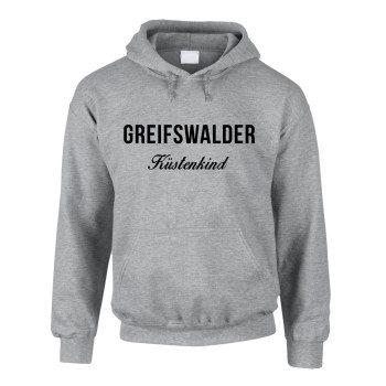 Greifswalder Küstenkind - Herren Hoodie - grau
