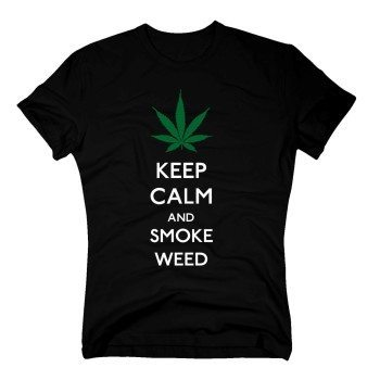 Keep calm and smoke weed - Herren T-Shirt - schwarz