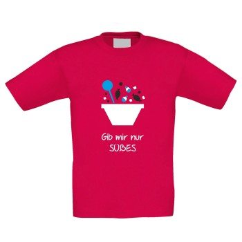 Gib mir nur Süßes - Kinder T-Shirt zu Halloween - pink