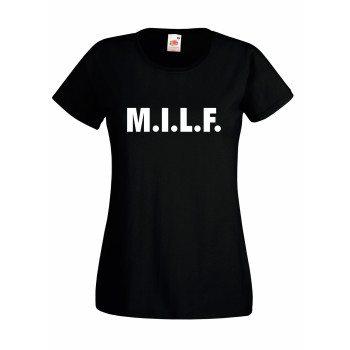 M.I.L.F. - Damen T-Shirt - schwarz