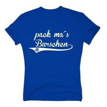 Pack ma's Burschen - Herren T-Shirt - blau