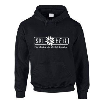 Ski Heil - Die Bretter, die die Welt bedeuten - Herren Hoodie - schwarz