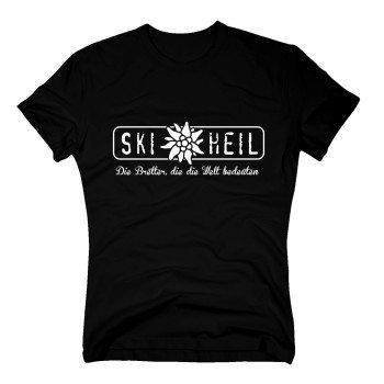 Ski heil - Die Bretter, die die Welt bedeuten - Herren T-Shirt - schwarz