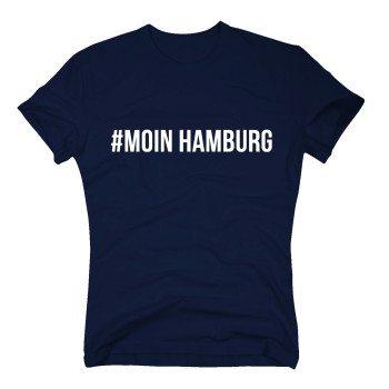 #Moin Hamburg - Herren T-Shirt - dunkelblau