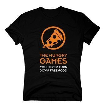 The hungry games. You never turn down free food - Herren T-Shirt - schwarz