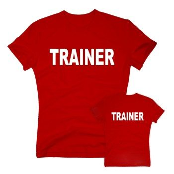 Trainer - Herren T-Shirt beidseitig bedruckt - rot