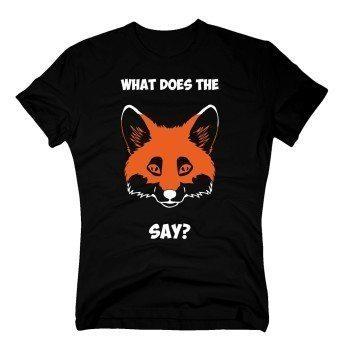 What does the fox say? - Herren T-Shirt - schwarz