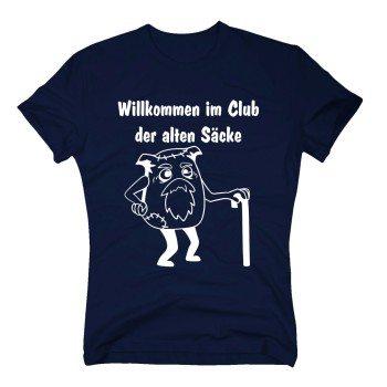 Willkommen im Club der alten Säcke - Herren T-Shirt - dunkelblau