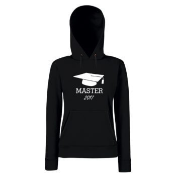Damen Hoodie Abschluss Master 2017