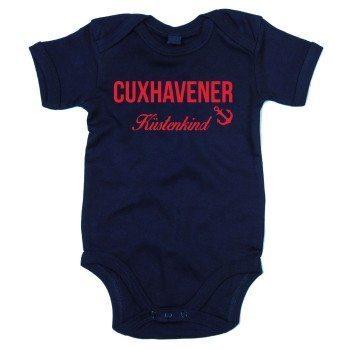 Cuxhavener Küstenkind - Baby Body - dunkelblau-rot