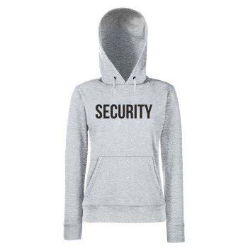 Security - Damen Hoodie - grau-schwarz