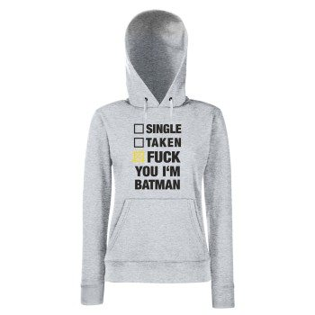 Batman Hoodie Damen - Single Taken Fuck You I'm Batman