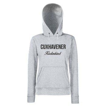 Cuxhavener Küstenkind - Damen Hoodie - grau-schwarz