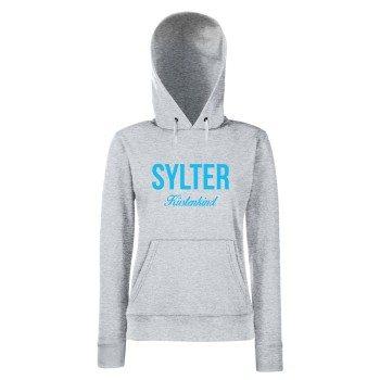 Sylter Küstenkind - Damen Hoodie - grau-hellblau