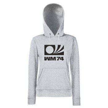 WM 74 - Damen Hoodie - grau-schwarz
