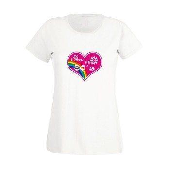 I love the 80s - Damen T-Shirt - weiß