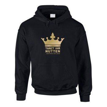 Tanzt ihr Nutten der König hat Laune - Herren Hoodie - schwarz-gold