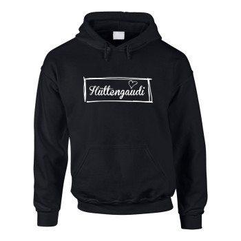 Hüttengaudi - Herren Hoodie - schwarz-weiß