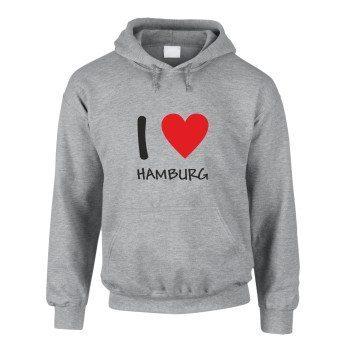I love Hamburg - Herren Hoodie - grau