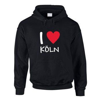 I love Köln - Herren Hoodie - schwarz