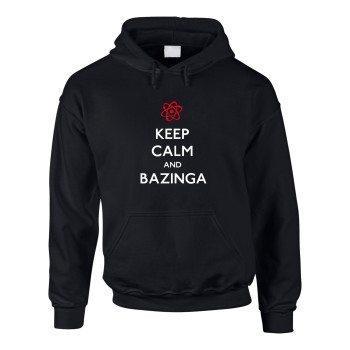 Keep calm and bazinga - Herren Hoodie - schwarz-weiß