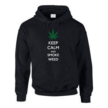 Keep calm and smoke weed - Herren Hoodie - schwarz