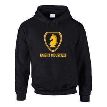 Knight Industries - Herren Hoodie - schwarz-gelb