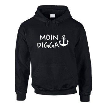Hamburg Kapuzenpullover Herren Hoodie Moin Digga - Hamburg