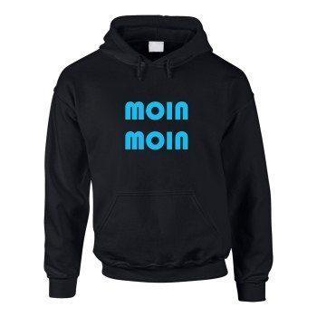 Moin Moin - Herren Hoodie - schwarz-blau