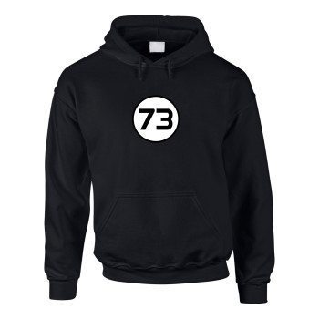 73 - Herren Hoodie - schwarz-weiß