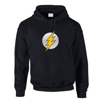 Herren Hoodie mit The Flash Symbol - schwarz-silber