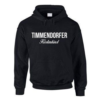 Timmendorfer Küstenkind - Herren Hoodie - schwarz-weiß